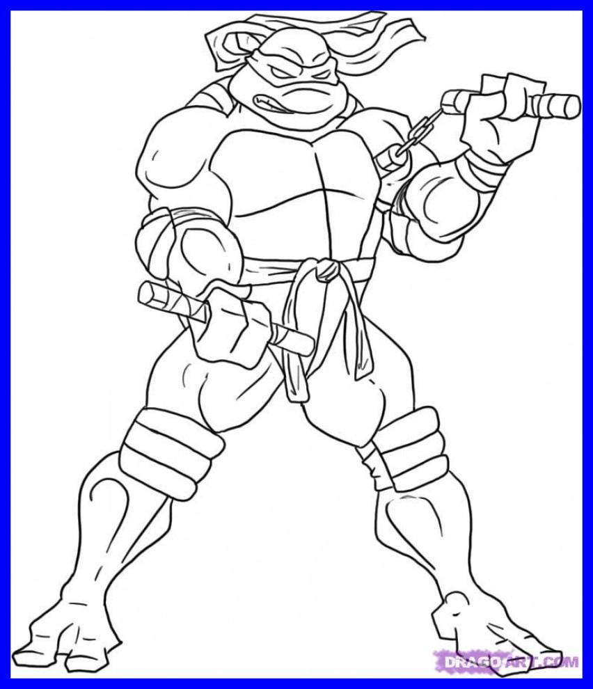 852x990 Incredible Teenage Mutant Ninja Coloring Donatello Turtle Page