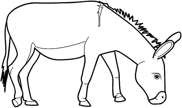 600x357 Donkey Coloring Page Donkey Pictures To Color Donkey Coloring
