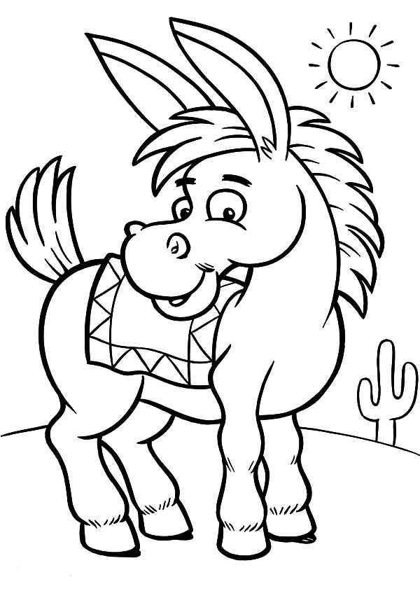 600x854 Mexican Donkey, Mexican Donkey On A Sunny Day Coloring Pages