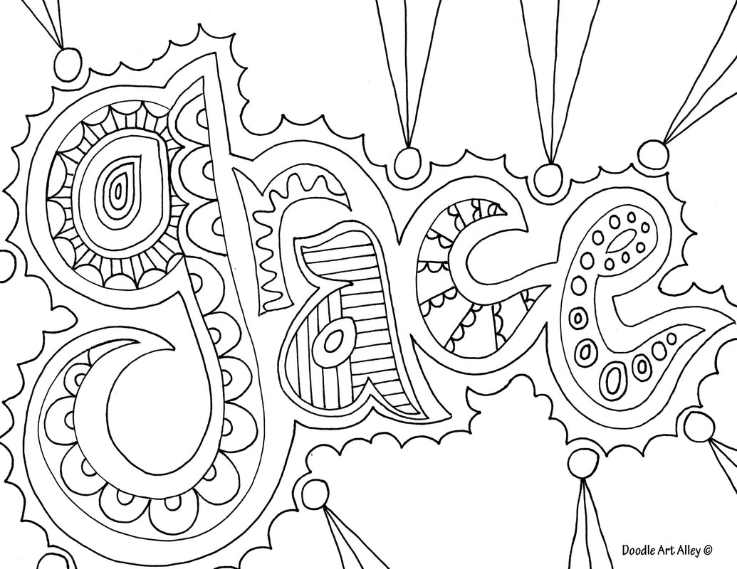 1035x800 Doodle Art Words Word Coloring Pages