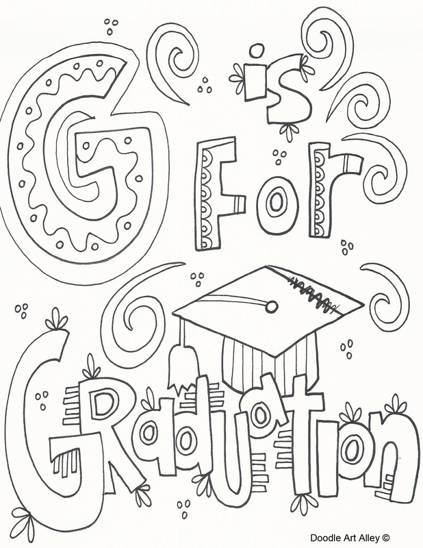 618x800 Graduation Coloring Pages Doodle Art Alley Throughout Ideas