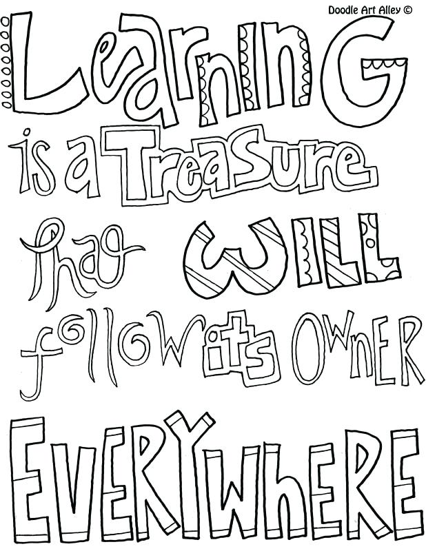 618x800 Quote Coloring Pages For Adults Learning Quotes Doodle Art Alley