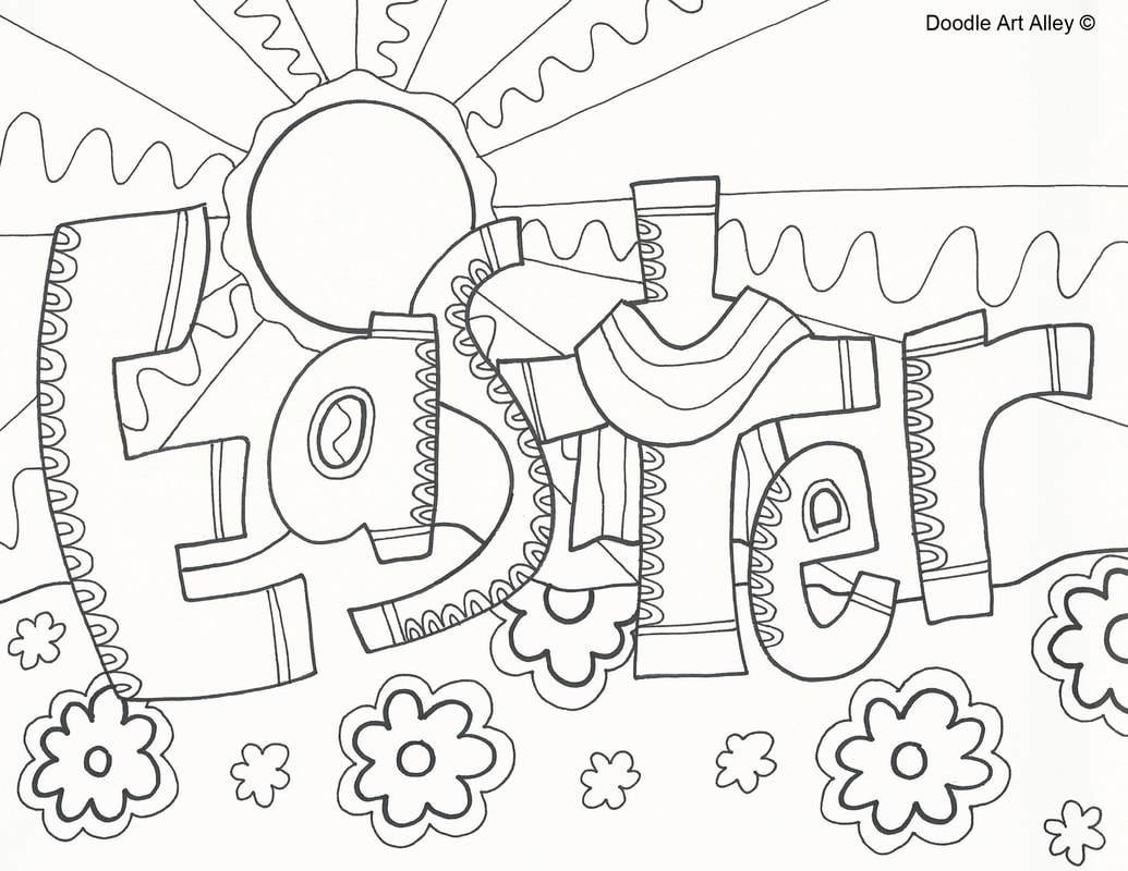 1035x800 Astonishing Religious Easter Coloring Pages Doodle Art Alley Pic