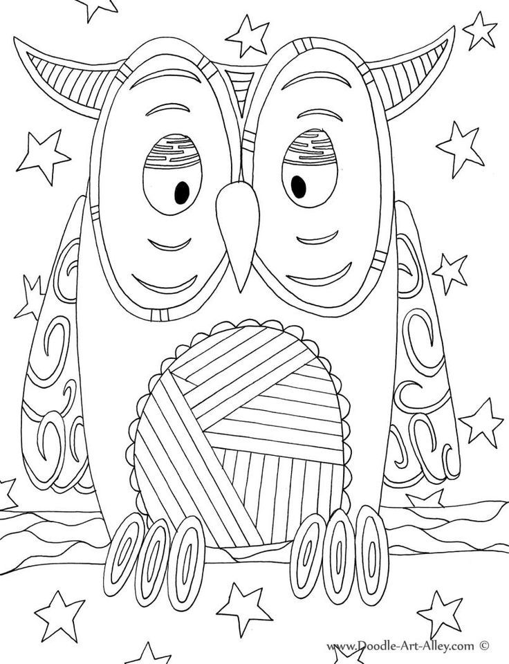 736x960 Bird Coloring Pages Doodle Art Alley Owl Classroom Animal