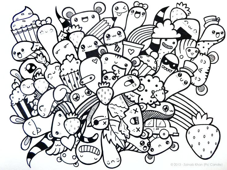 736x552 Free Doodle Coloring Pages Free Printable Doodle Art Coloring