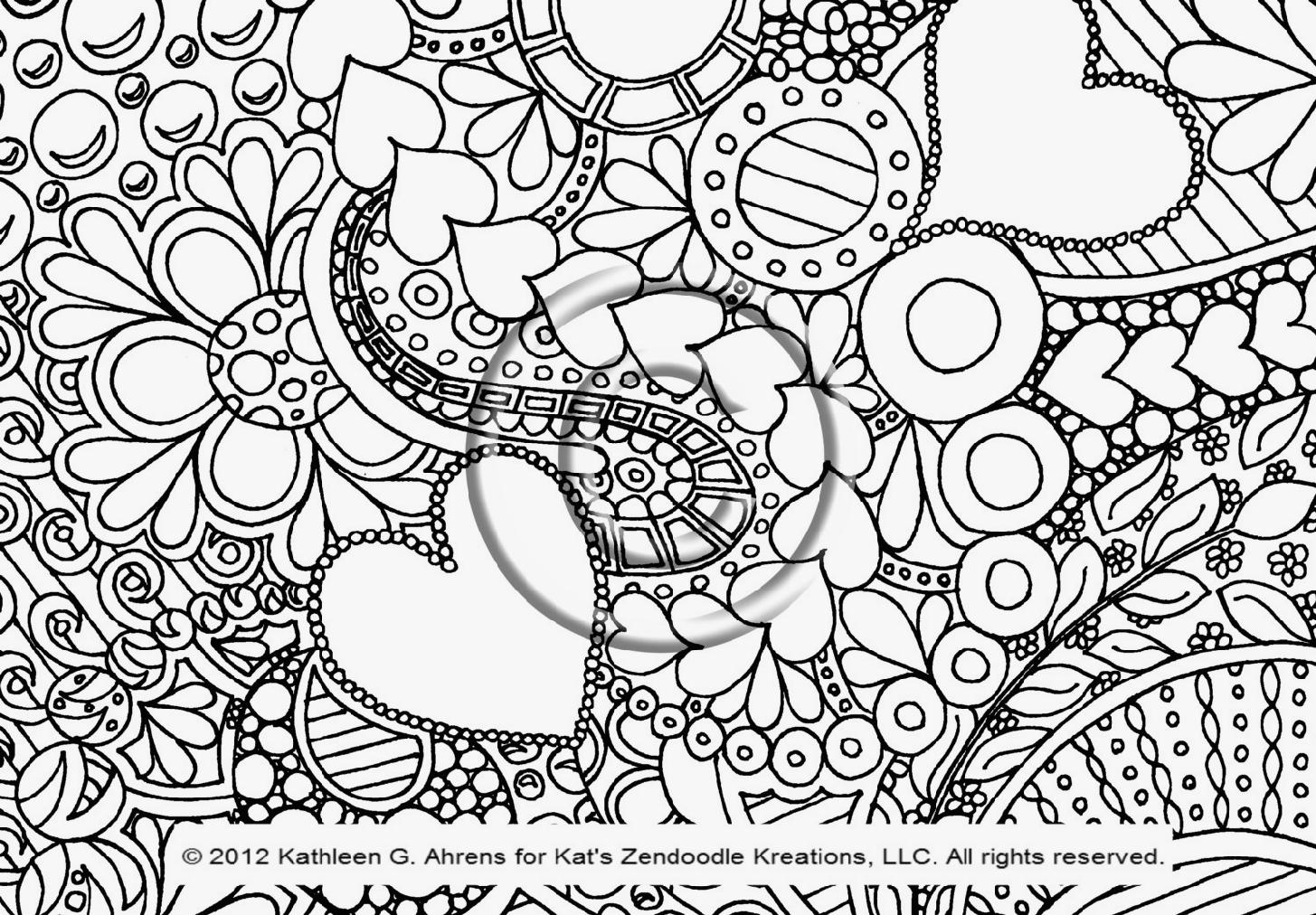1455x1012 Free Printable Doodle Art Coloring Pages