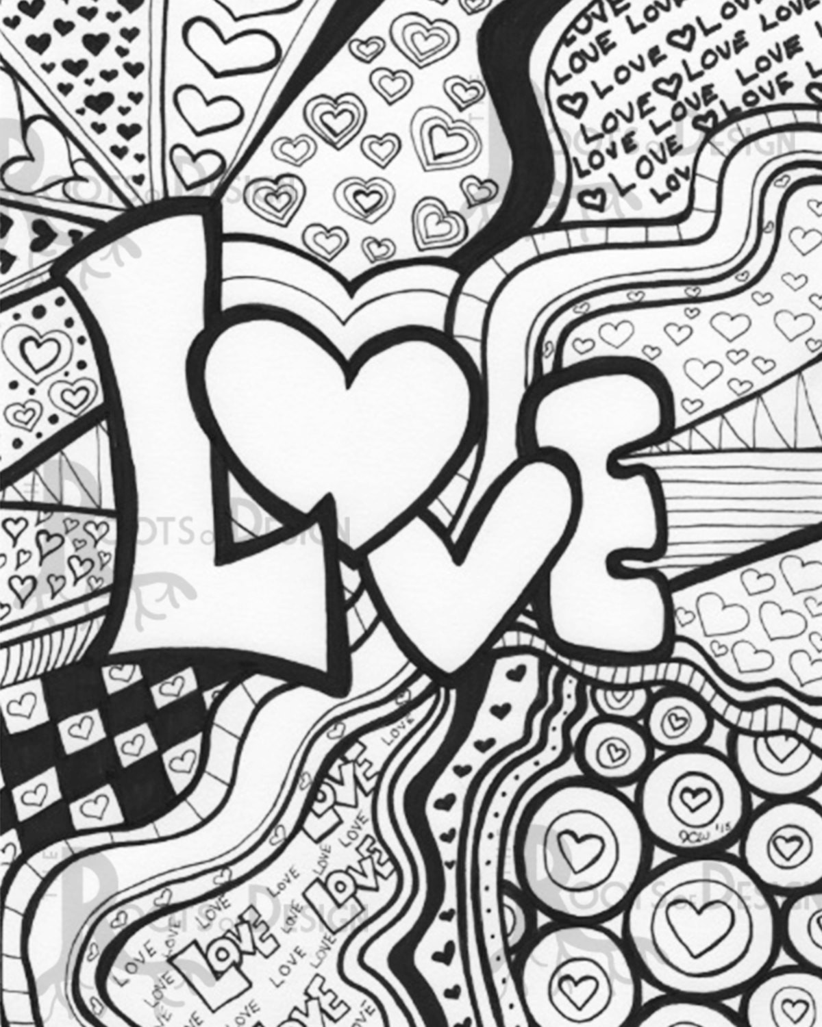 1200x1500 Free Printable Doodle Art Coloring Pages Love Images Gianfreda Net