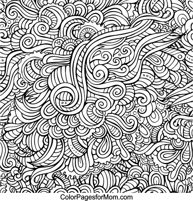 640x666 Pattern Doodle Art Coloring Pages Coloring Page For Kids Kids