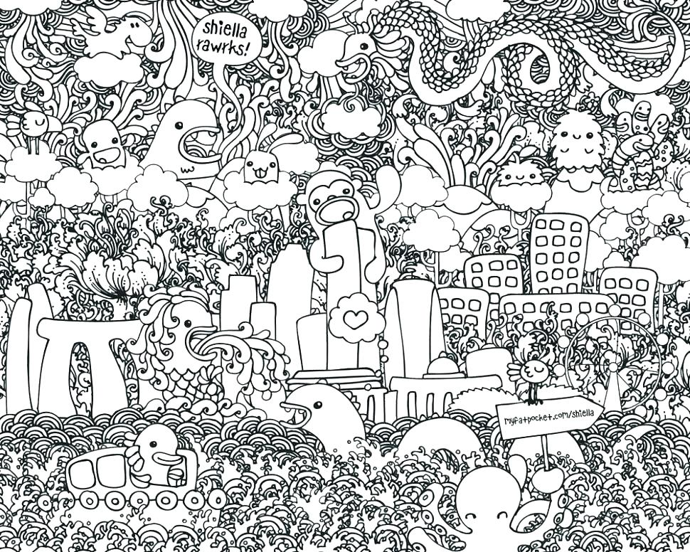970x776 Printable Doodle Art Coloring Pages S Free Printable Lets Doodle