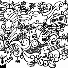 268x268 Doodle Art Coloring Book All About Coloring Pages