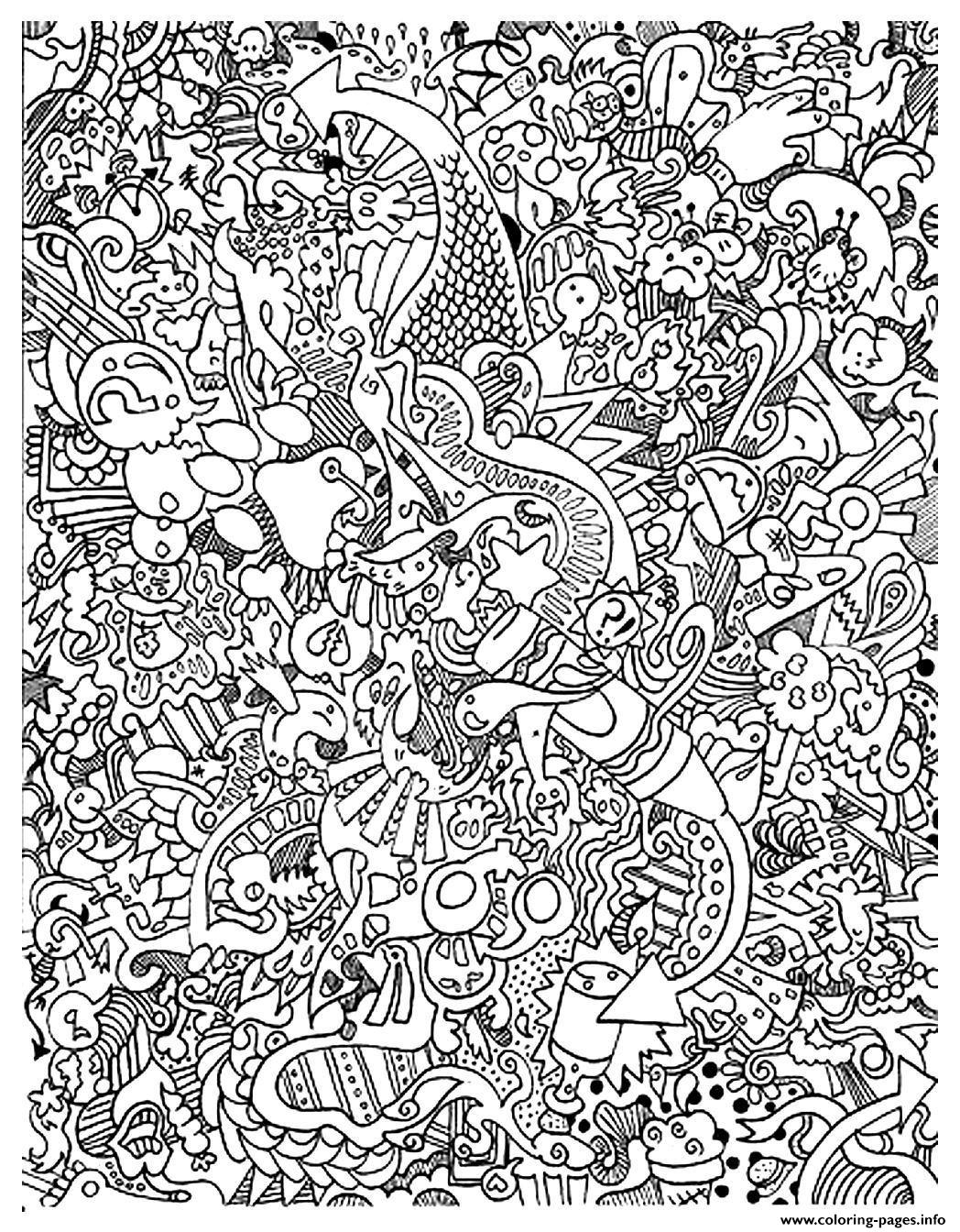 1048x1344 Printable Doodle Art Adult Doodle Art Doodling Coloring Pages
