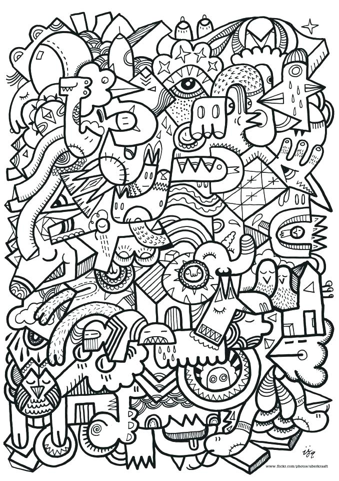 678x960 Doodle Coloring Pages Doodle Art Coloring Pages And Printable