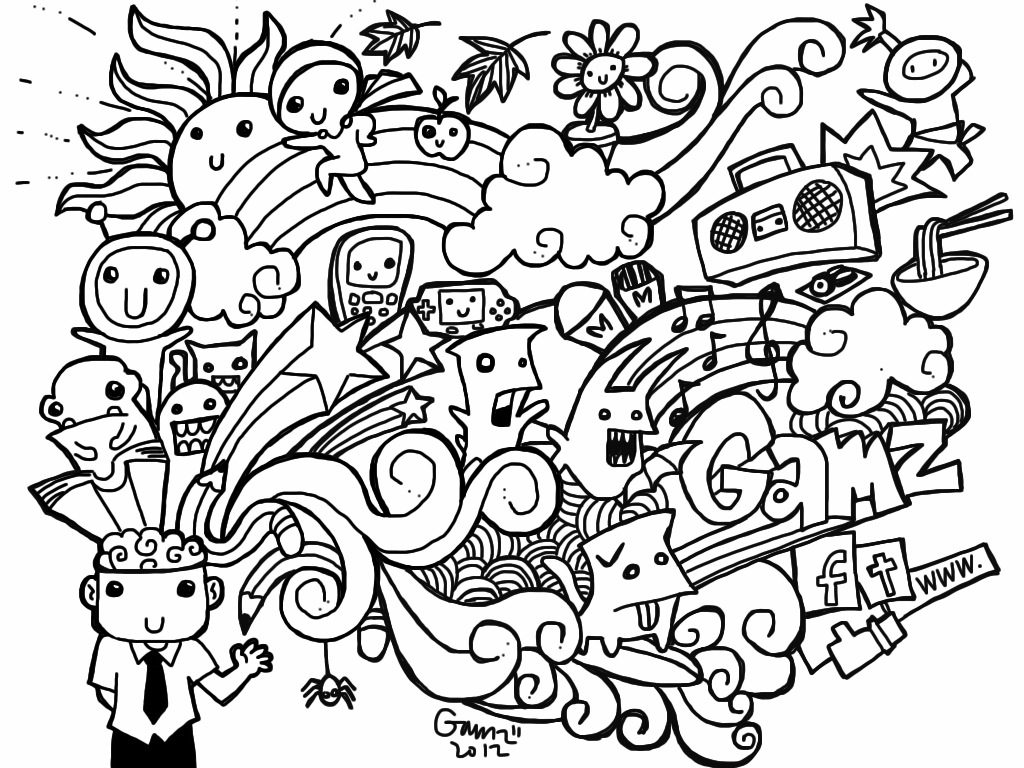 Doodle Coloring Pages Printable