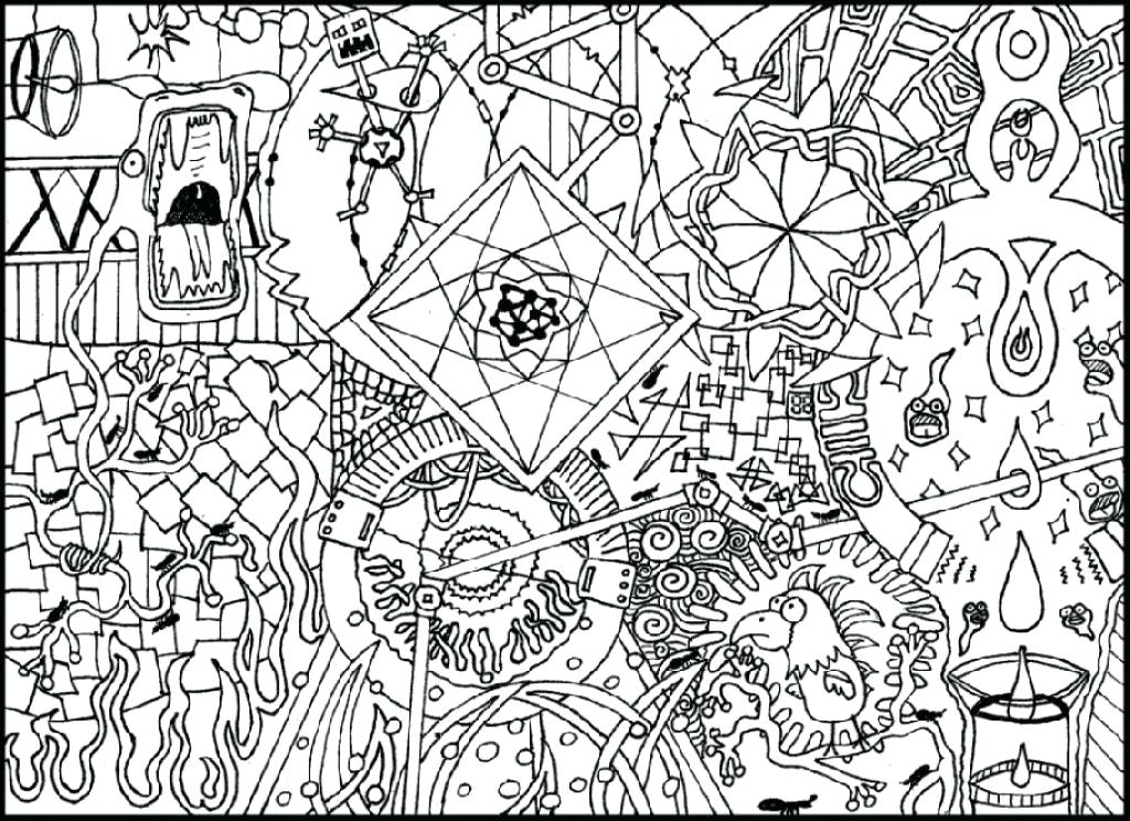 1024x744 Doodle Coloring Page