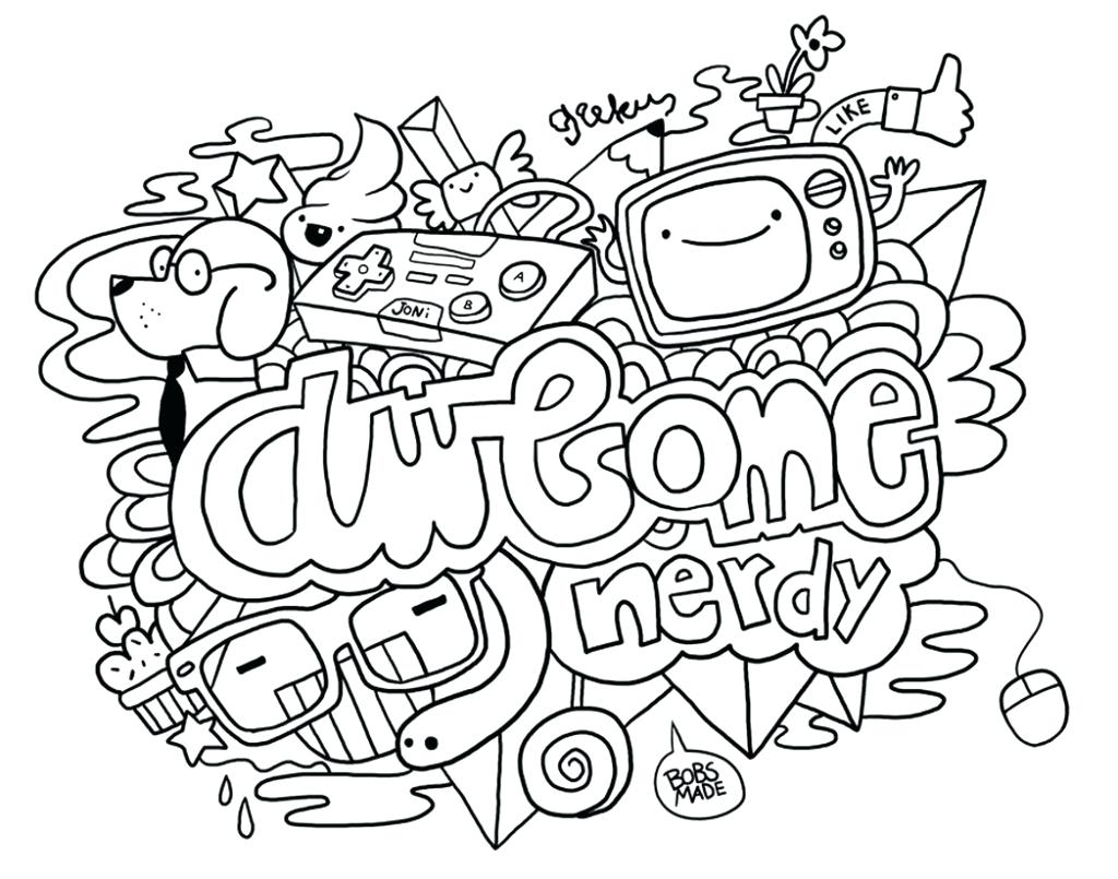 1024x805 Free Printable Doodle Coloring Pages