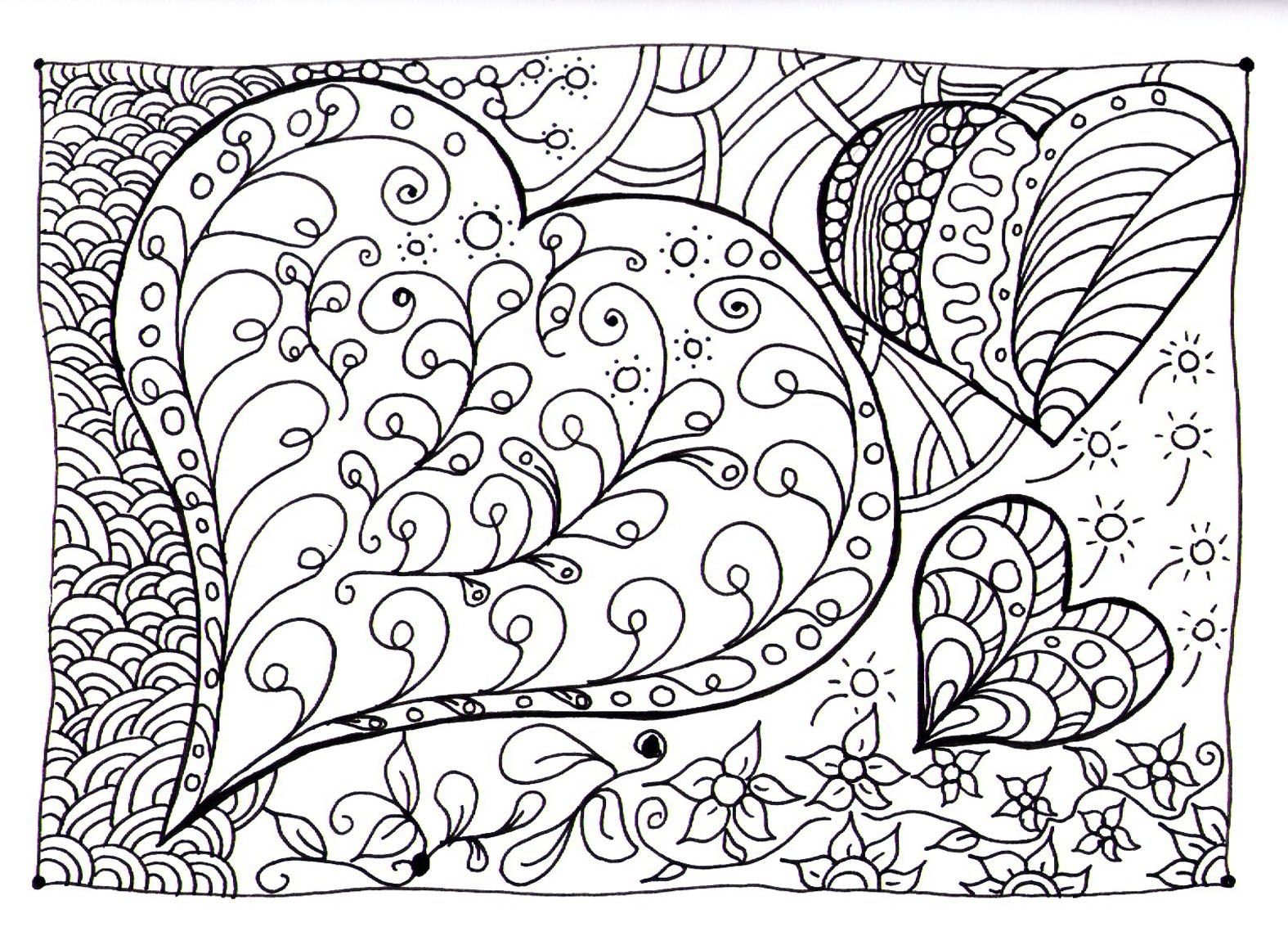 1575x1144 Free Coloring Page Heart Coloring