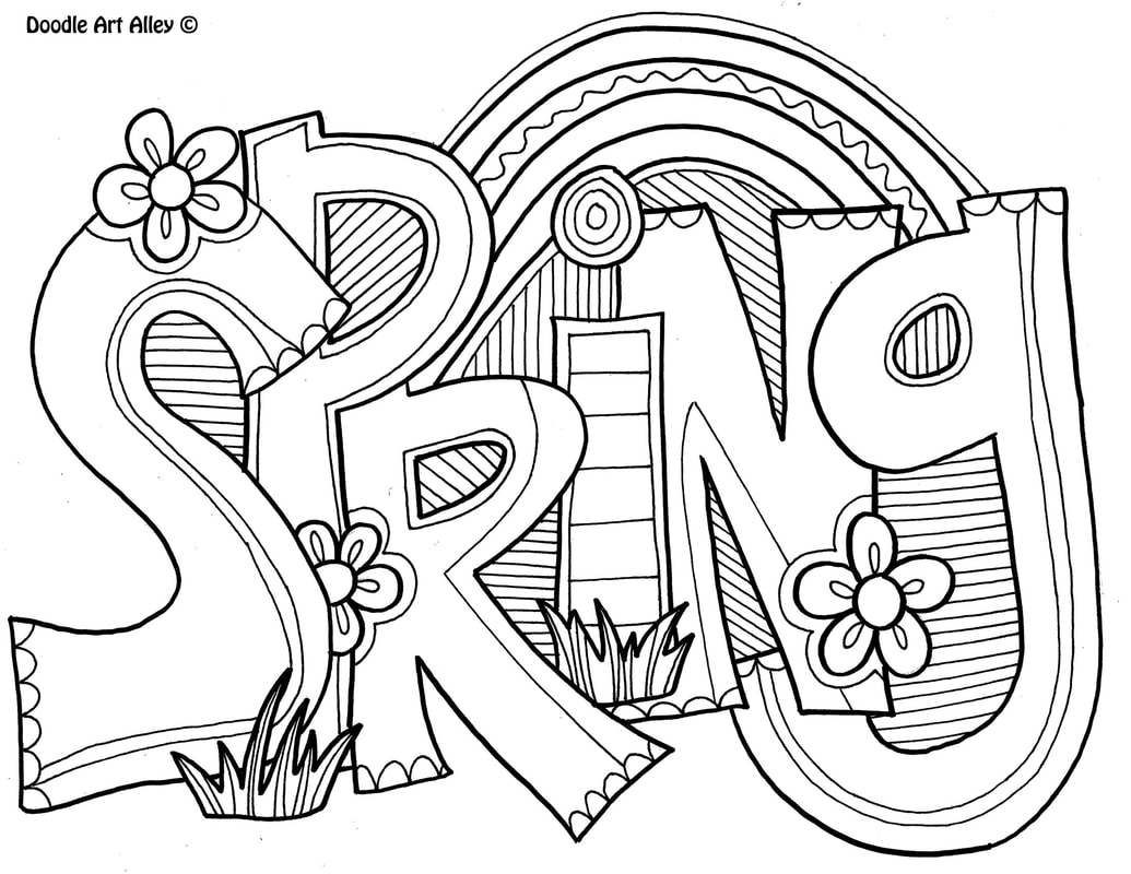1035x800 Spring Coloring Pages