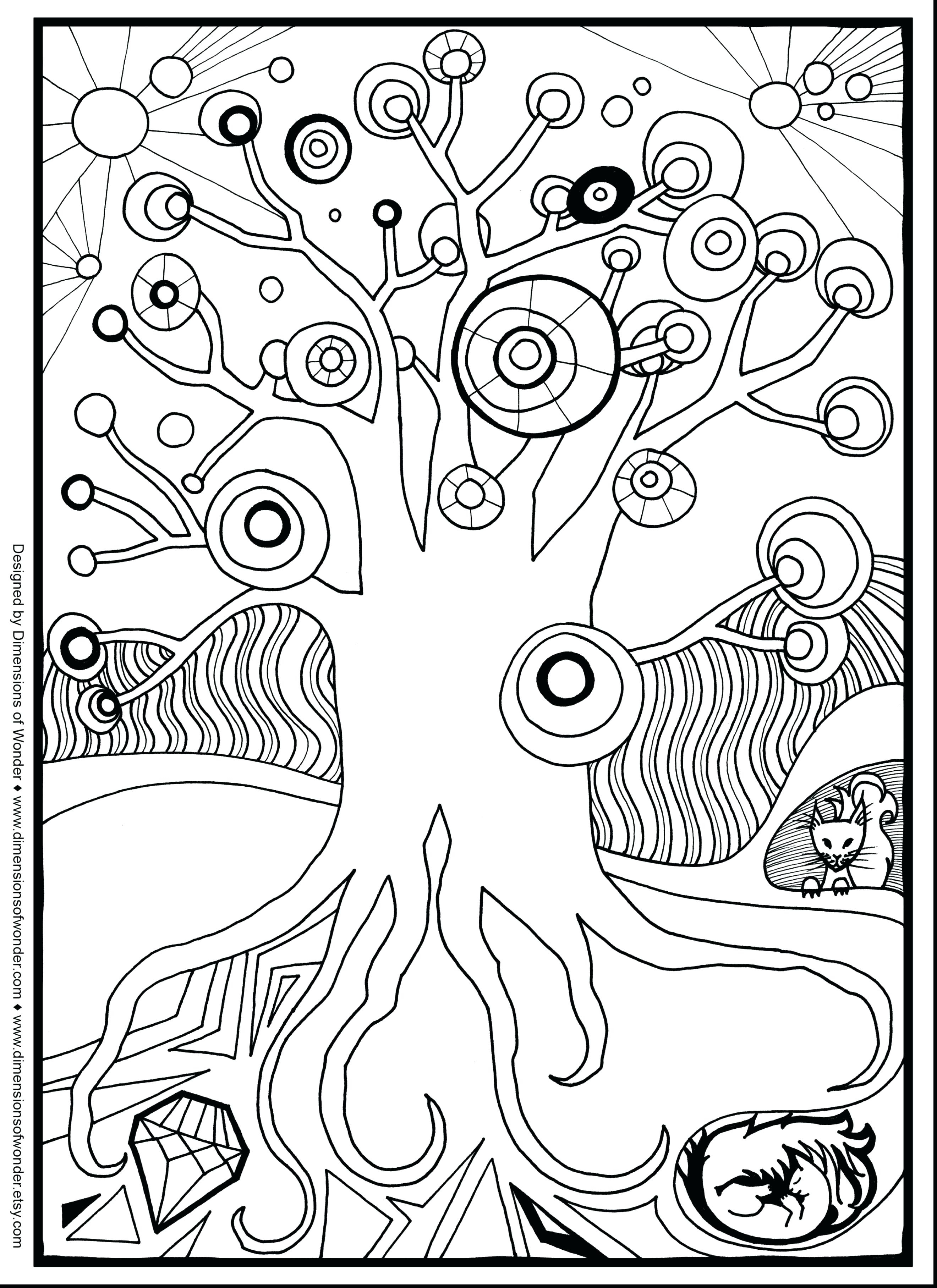 2640x3630 Christmas Doodle Coloring Pages To Print