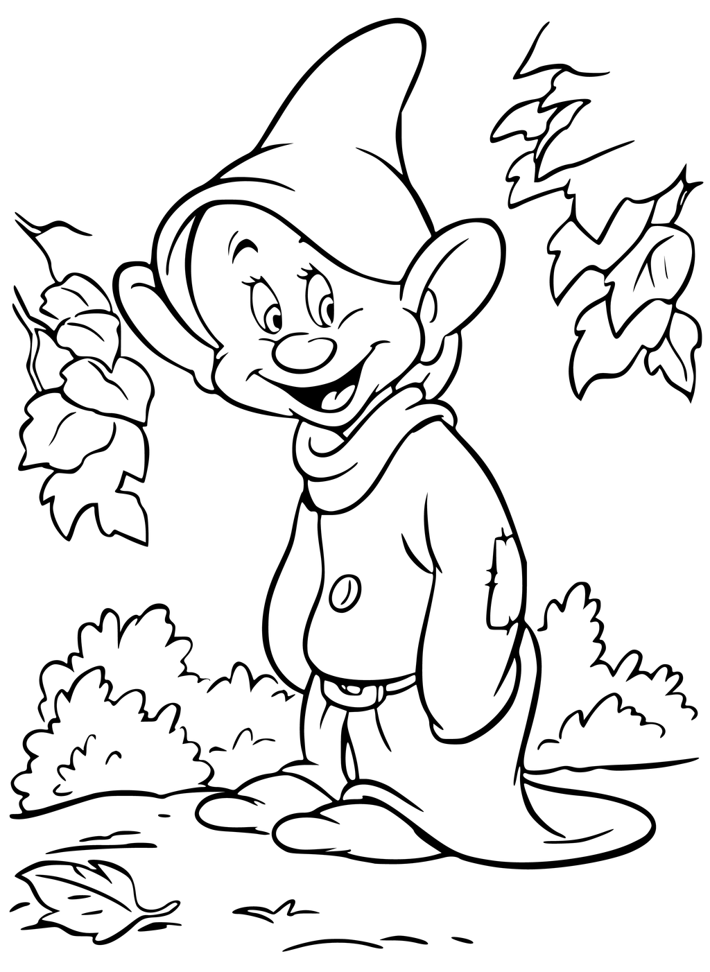 1024x1402 Disney Dwarf Dopey Coloring Pages