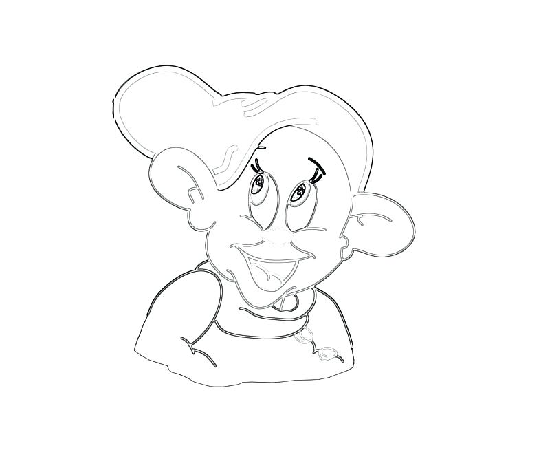 800x667 Dopey Coloring Pages Coloring Home Dopey Art Paper Dopey Dwarf