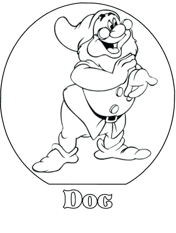 600x794 Seven Dwarfs Coloring Pages Happy Snow White And The Seven Dwarfs