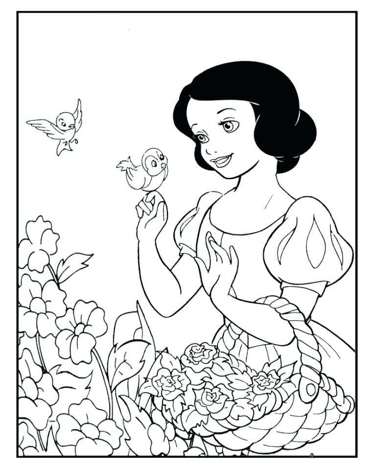762x960 Snow White Coloring Pages Snow White With The Dwarfs Snow White