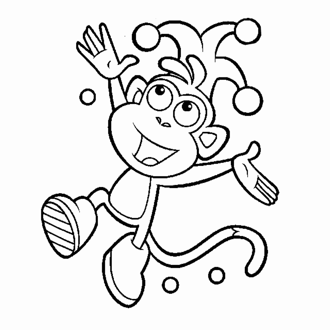 1350x1350 The Dora Boots And Tico Coloring Pages Trend Dora Coloring Pages