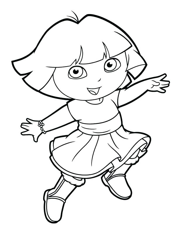 612x792 Dora And Boots Coloring Pages The Explorer Balloons Dora Boots