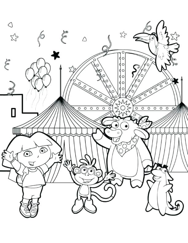 612x792 Dora The Explorer Coloring Pages To Print Explorer Coloring Pages