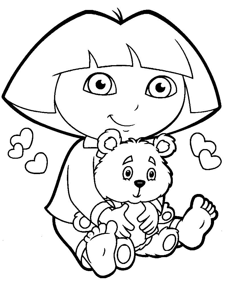 The Best Free Dora Coloring Page Images Download From 50 Free
