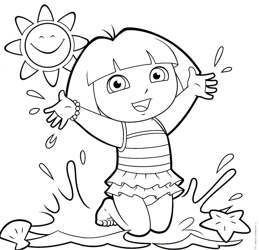 Dora Coloring Pages Games at GetDrawings.com | Free for personal use ...