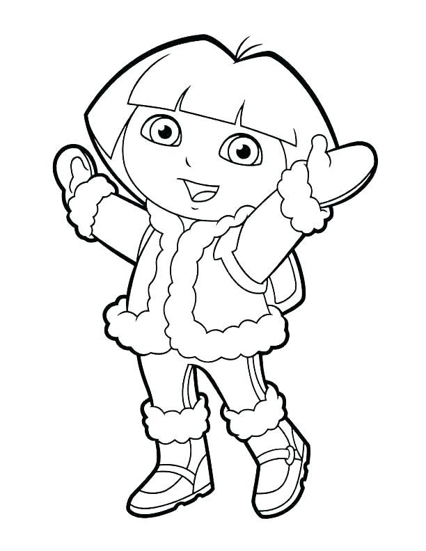 612x792 Dora Explorer Coloring Pages Simple Ideas The Explorer Coloring