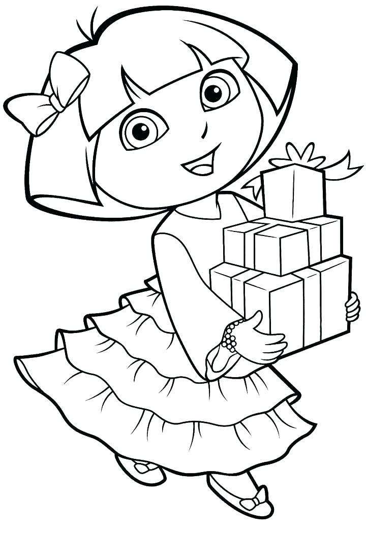 720x1054 Free Dora The Explorer Coloring Pages Explorer Coloring Coloring