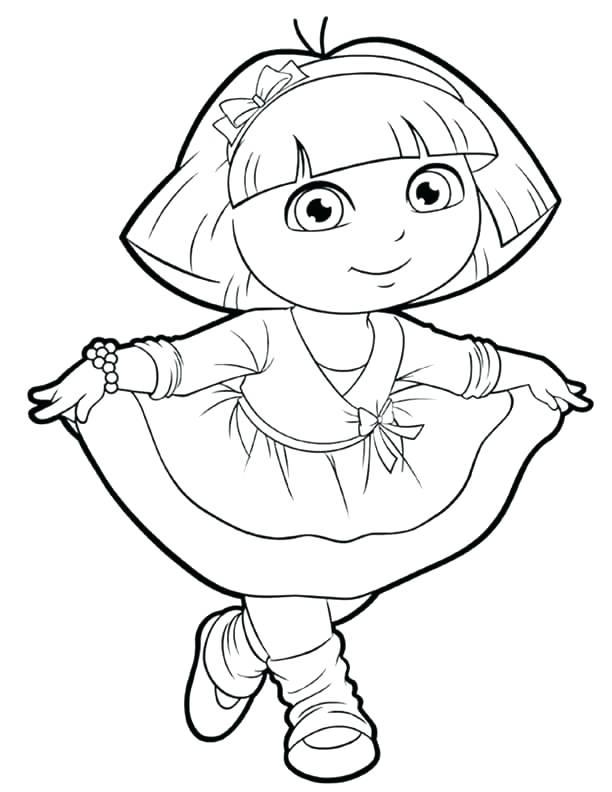 612x792 Dora Free Coloring Pages Coloring Pages The Explorer Explorer