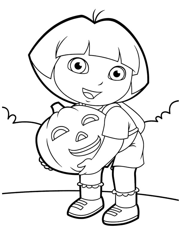 Dora Halloween Coloring Pages At Getdrawings Com Free For Personal