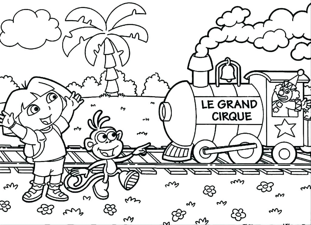 1024x743 Dora Colouring Pages To Print Color Pages Coloring Online Games