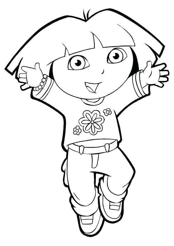 595x842 Dora Printable Coloring Pages The Explorer Colouring Sheets
