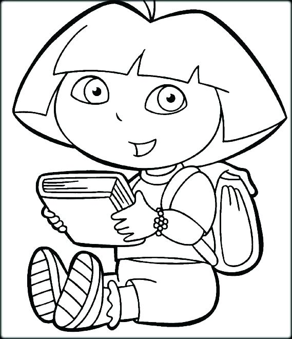 569x660 Dora Printable Coloring Pages Coloring Pages Free Free Coloring
