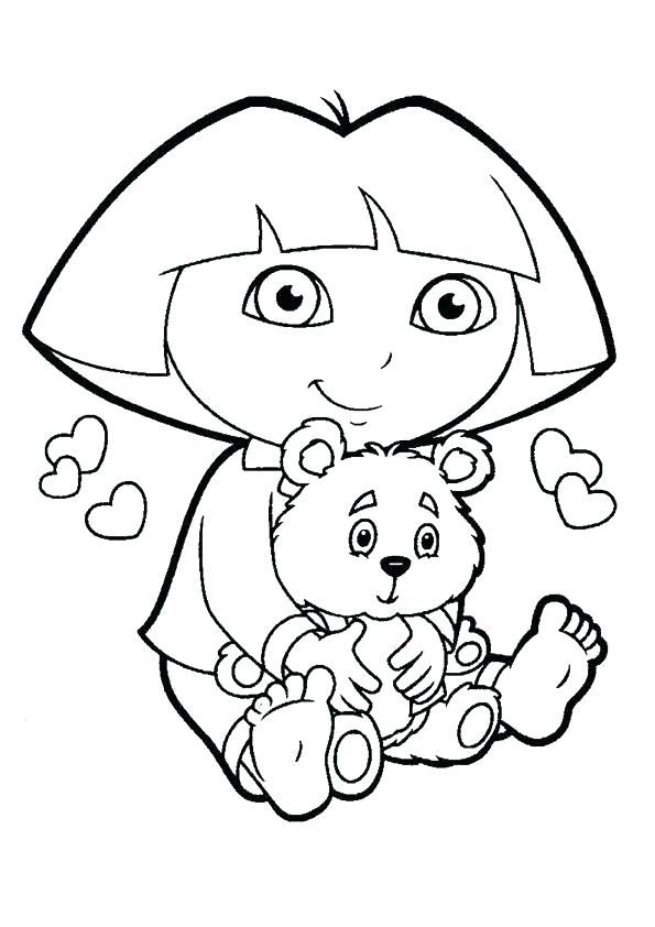 595x842 Dora Printable Coloring Pages Printable Coloring Pages Print Color