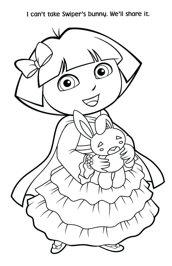 600x927 Dora The Explorer Coloring Page Printable Coloring Pages Coloring