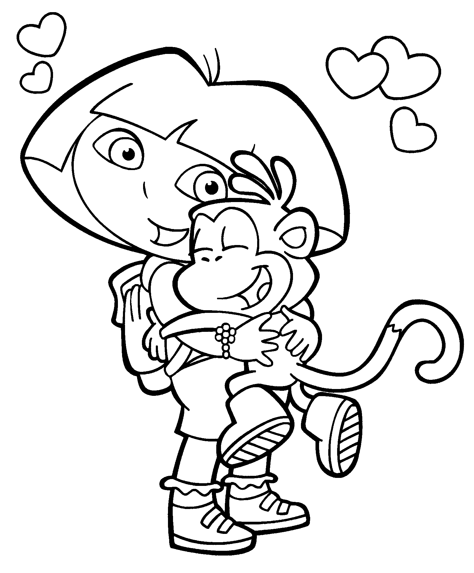 1600x1934 Dora Boots Coloring Page Coloring Pages Birthdays