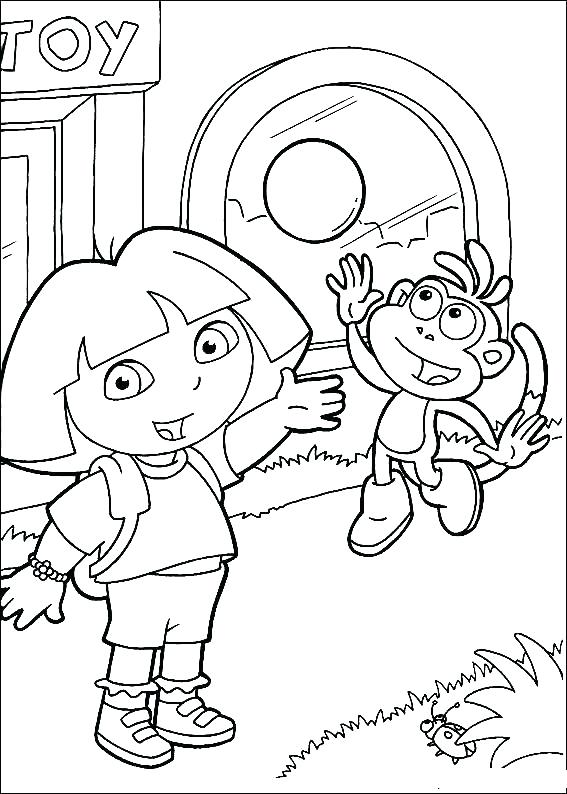 567x794 Explorer Coloring Pages Free Printable Printable Coloring Dora
