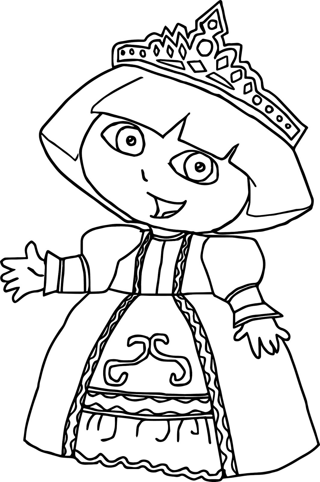 1064x1600 Coloring Pages Dora Princess Fresh Printable Dora Printable