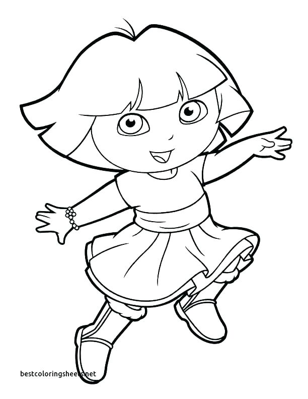 612x792 Printable Coloring Pages Dora Yongtjun