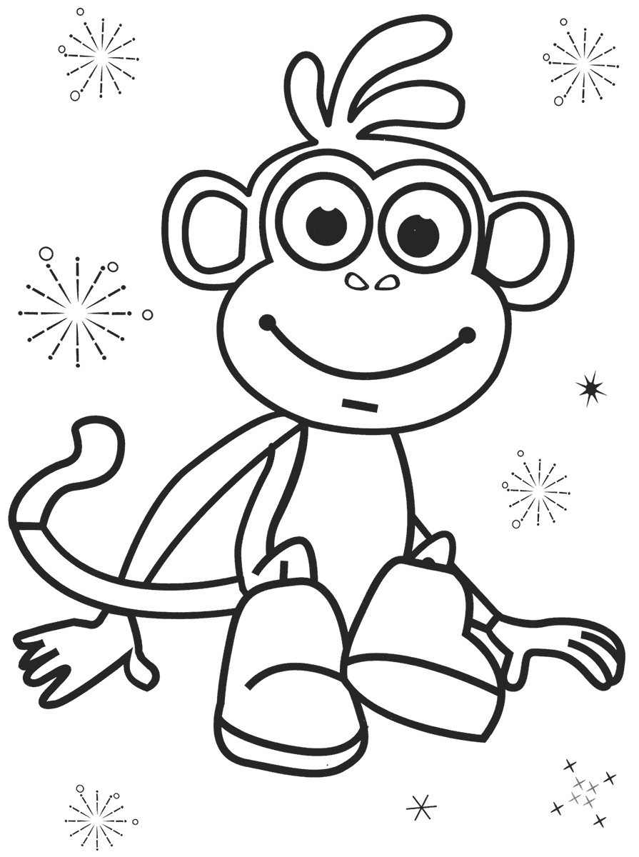 895x1200 Dora Christmas Coloring Pages Free Printable Fresh Top Free Boots