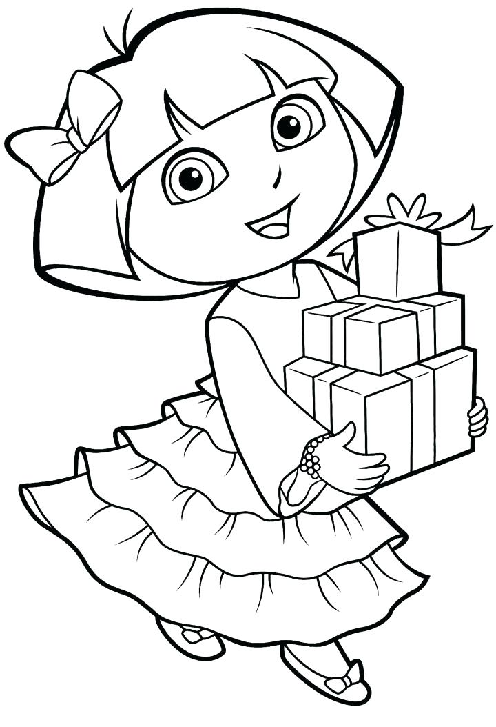 720x1054 Dora Color Page And Boots Coloring Pages To Print Images Color