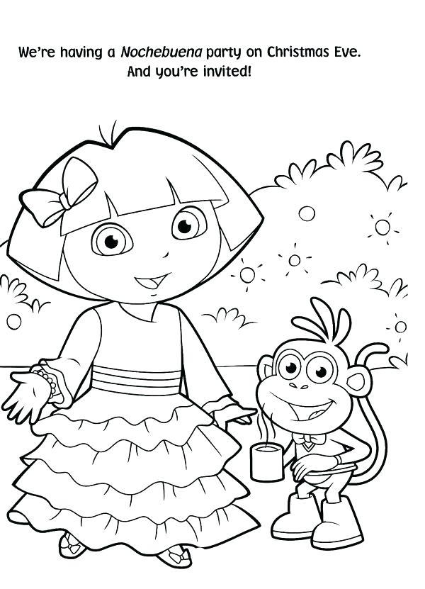 600x831 Dora Christmas Carol Adventure Coloring Pages Explorer Free