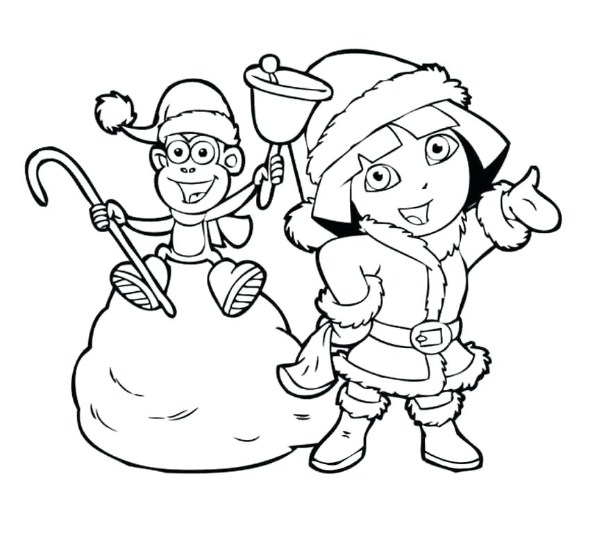 850x767 Dora Christmas Coloring Pages Coloring Pages Printable Coloring