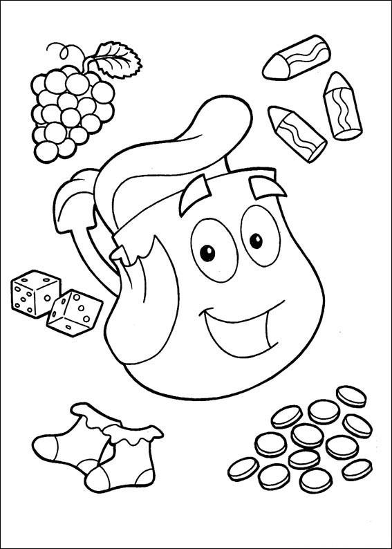 567x794 Dora Explorer Coloring Pages Free Printable Dora Christmas