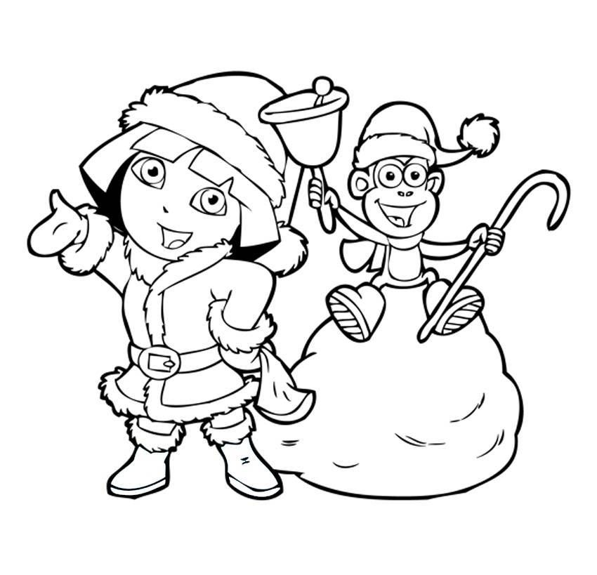 850x819 Dora The Explorer Christmas Coloring Pages Coloring Pages
